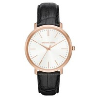 Jaryn Rose Gold-Tone and Embossed-Leather Watch | Michael Kors