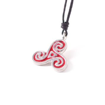 Celtic Trinity Spiral Silver Pewter Charm Necklace Pendant Jewelry With Cotton Cord
