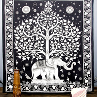 Indian Elephant Tapestry, Hippie Tapestries, Tapestry Wall Hanging, Wall Tapestries, Bohemian Tapestries, Mandala Bed Spread, Dorm Tapestry