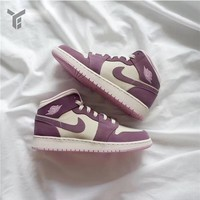 Air Jordan 1 Retro Mid Pink White