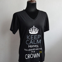 Moriarty: Keep Calm Honey you should see me in a crown T-shirt Short Sleeve