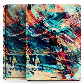 "Liquid Abstract Paint Remix V13 - Full Body Skin Decal for the Apple iPad Pro 12.9"", 11"", 10.5"", 9.7"", Air or Mini (All Models Available)"