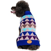 Blueberry Pet 16-Inch Graphically Enhanced Pyramid Dog Sweater, X-Large