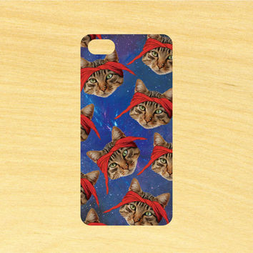 Tupac Cat in Space Pattern iPhone 4/4S 5/5C 6/6+ and Samsung Galaxy S3/S4/S5 Phone Case