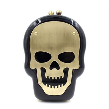 Skull acrylic evening bag packages Transparent handbags