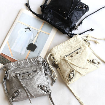 Summer Rinsed Denim Soft Mini Messenger Bags Shoulder Bags Phone [4915807108]