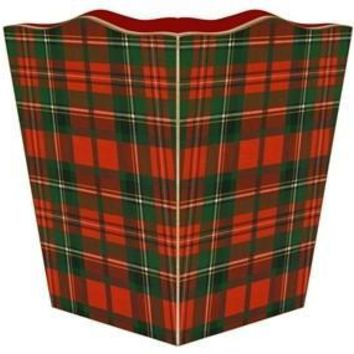 Red & Green Plaid Wastebasket