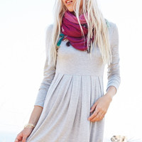 Perfect Fall Day Dress - Gray