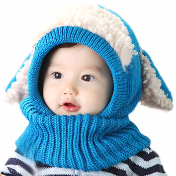 Best selling Toddler Kids Beanies Hats Coif Hood Kintted Woolen Scarves Caps Winter Warm Cap
