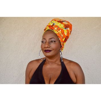 Plays African Print HeadWrap
