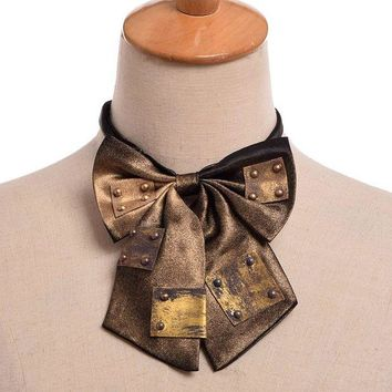 DCCKH6B 1pc Steampunk Vintage Bowknot Bow tie Industrial Victorian Neck Tie Costume Accessory