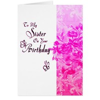 Sister on Your Birthday (pink) Card