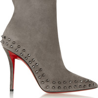 Christian Louboutin - Willeta 100 spiked suede ankle boots