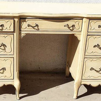 Vintage French Provincial Desk by