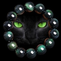 1 PCS Natural Stone Obsidian Anti fatigue Weight Loss Bracelet Fashion Women and Men Jewelry 6/8/10/12/14/16/18/20mm Agate Quart