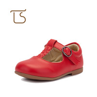 T.S. baby shoes First Walkers 1-3 Age Soft genuine Leather Newborn shoes Girls  Infant Toddler baby girl princess shoes red