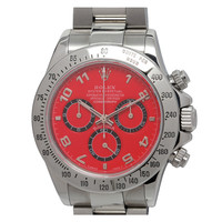 Rolex Stainless Steel Daytona Ref 116520 with Custom Red Dial
