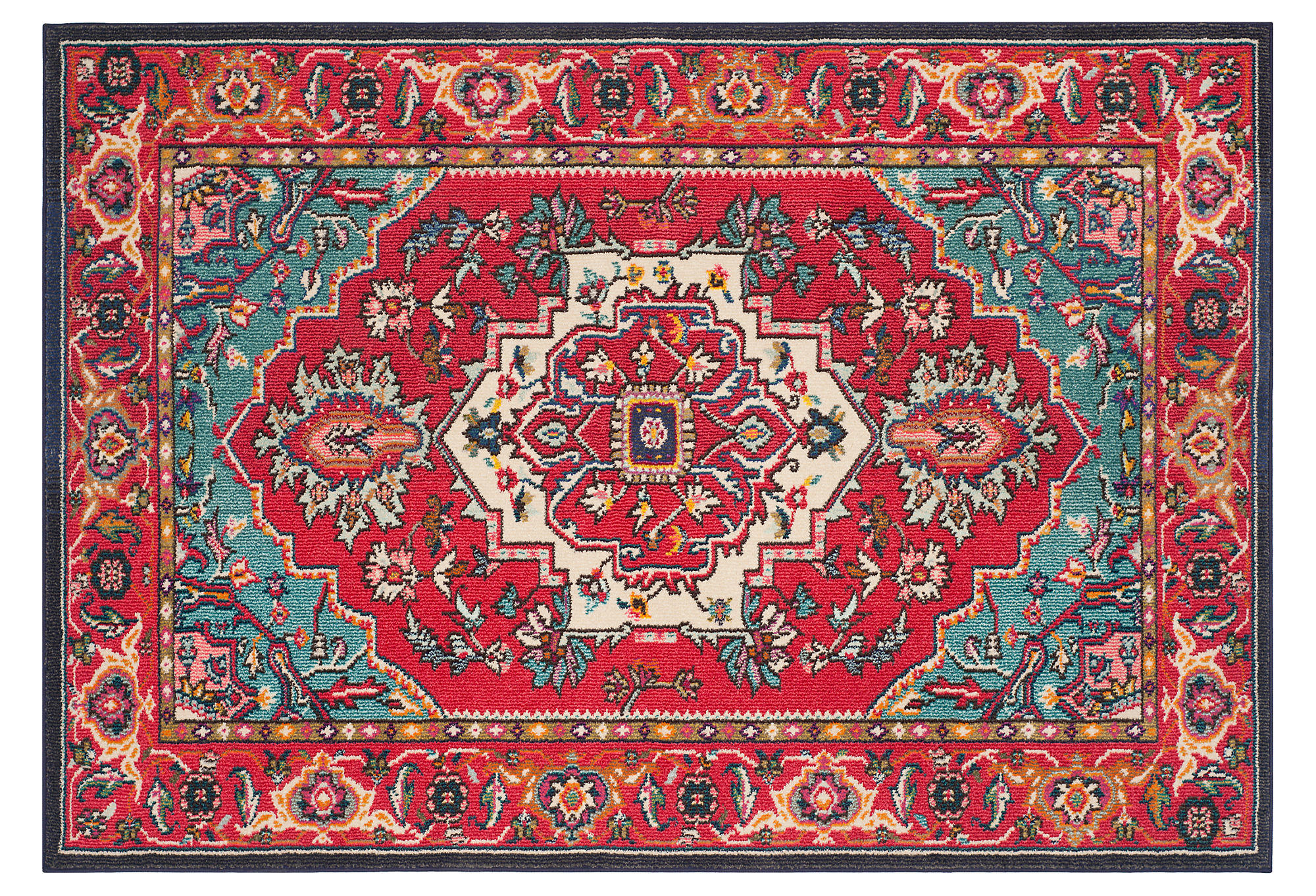 noella runner red turquoise area rugs from one kings lane. Black Bedroom Furniture Sets. Home Design Ideas