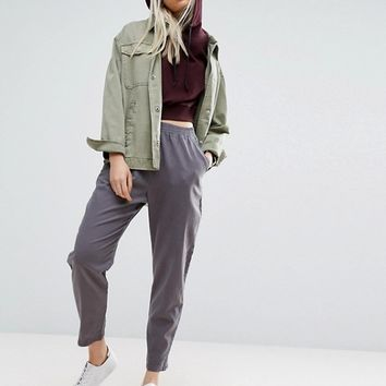 ASOS Washed Tapered Peg Pants at asos.com