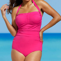 Rose Shore Club Shirred Halter One-Piece - Women & Plus | zulily