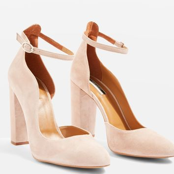 Gracie Buckle Detail Court Shoes | Topshop