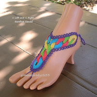 Popular Hippie Barefoot Sandals Anklet Shoes Free Spirit Jewelry Bohemian Foot Thong Most Popular Crochet Barefoot Sandals Hippie Footwear