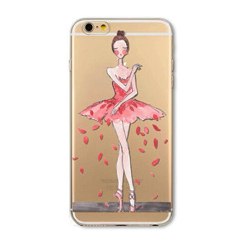 "Cute 3D Printing Phone Case Cover For iPhone 6 6s 4.7"" Ultra Soft Silicon"