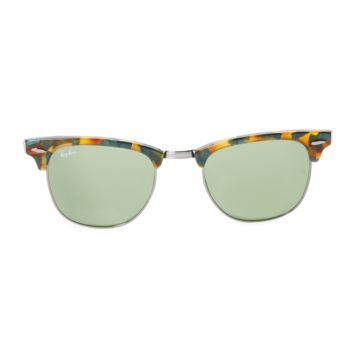 Ray Ban Men's Novelty Tinted Clubmaster Frame