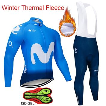 Cycling Jerseys Set Mountain Bike Clothes Sportswear Racing Bicycle Cycling Clothing Maillot Ropa Ciclismo M Team Top Winter