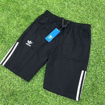 Adidas black man shorts sweatpants sport pants H-A-GHSY-1