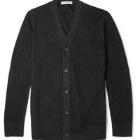 Balenciaga - Cotton Jersey-Backed Open-Knit Wool Cardigan | MR PORTER