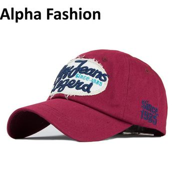 Trendy Winter Jacket Alpha Fashion Spring Branded Embroidered Jeans  Women Baseball Cap Snapback Casquette Women Hats For Outdoor Couple Caps Gorras AT_92_12