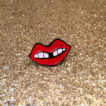 Red Lip pin