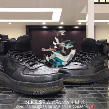 NIKE SF Air Force 1 Mid Woman Men Fashion Sneakers Sport Shoes Size:36-39