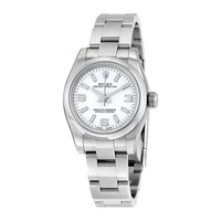 Rolex Lady Oyster Perpetual 26 White Dial Stainless Steel Rolex Oyster Automatic Watch 176200WASO