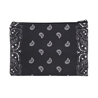 Black bandanna makeup bag