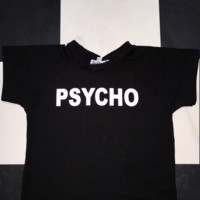 SWEET LORD O'MIGHTY! OG PSYCHO CROP TEE IN BLACK