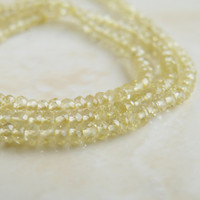 Exceptional Lemon Quartz Gemstone Faceted Rondelle 3mm 180 beads Full strand