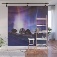 Lined Trees Wall Mural by marcogonzalez