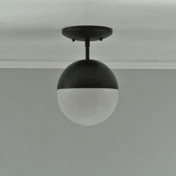 Petite Modern Globe Flush Mount Light