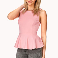 FOREVER 21 Garden Party Peplum Top