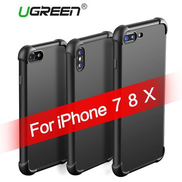 Ugreen Phone Case for iPhone 7 X Shock-proof Case for iPhone 8 7 Plus Case Soft TPU Phone cover for iPhone 7 8 Anti-drop Case