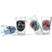 Pink Floyd Collector's Series Pint Glass, Set of 4
