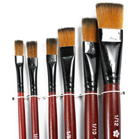 New 6 pcs different shape nylon hair paint brush gouache watercolor brush oil painting acrylics brush art supplies