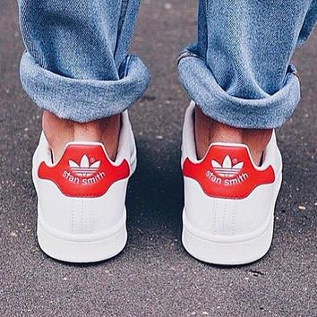 stan smith Fashion Flats Sneakers Sport Shoes Red