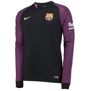 Barcelona 2016/17 Home Men Goalkeeper Long Sleeve Soccer Jersey Personalized Name and