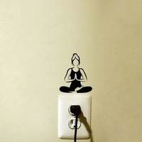Yoga Meditation Vinyl Wall Decals Light Switch Sticker