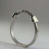 Electric Arc - Modern Minimalist Mens Ring