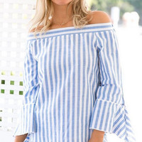 Strapless Striped Shirt  10852