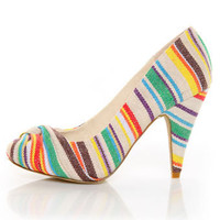 Rocket Dog Orient Natural Guatemala Stripe Knotty Pumps